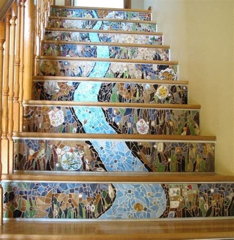 How To Change Color Of Bathtub Gorgeous Mosaic Staircase Home Design Garden