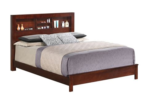 King Bookcase Headboard Best Buy Furniture And Mattress Cherry King Bed W Bookcase Headboard