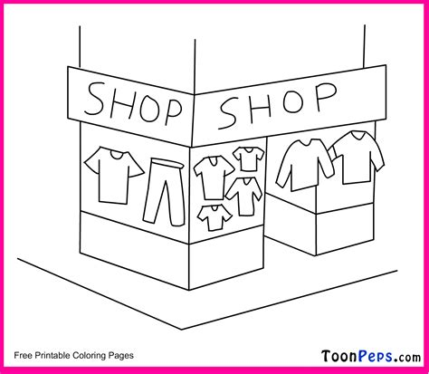 Store Coloring Page free coloring pages of shop drawing