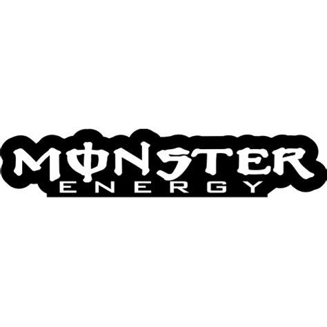 Monster Energy Sticker White by Sticker Et Autocollant Monster Energy Lettrage