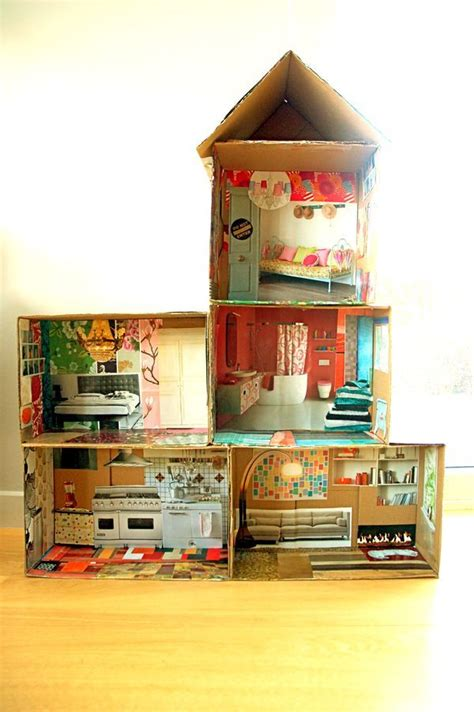 cardboard house plans cardboard dollhouse plans woodworking projects plans