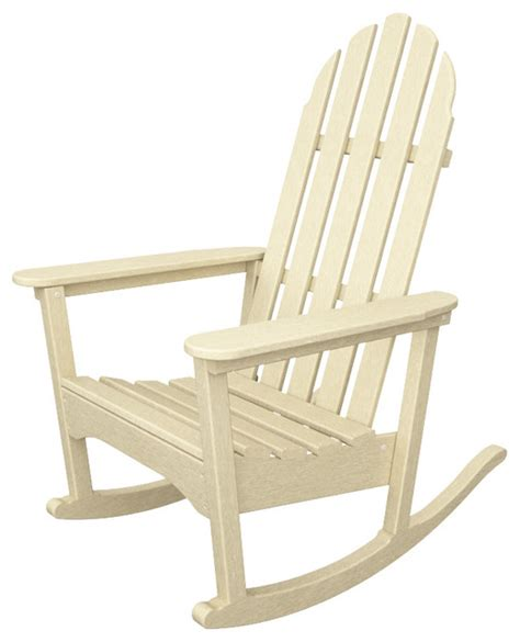 Recycled Plastic Outdoor Rocking Chairs Classic Adirondack Rocker Sand All Weather Outdoor