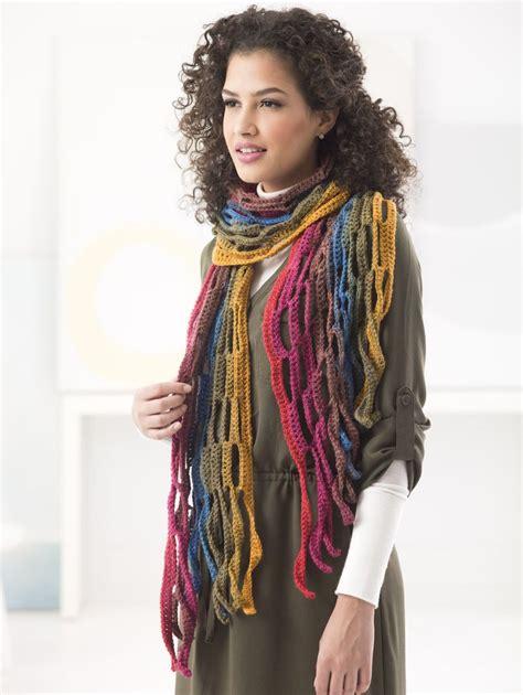 lionbrand pattern finder mesh scarf crochet lion brand yarn fashion