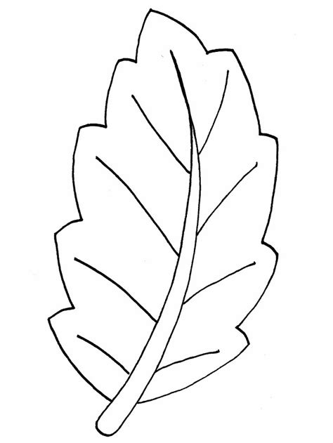 coloring page template printing printable leaf templates az coloring pages