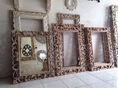 balinesestyle hand carved mirror frames kouboo global