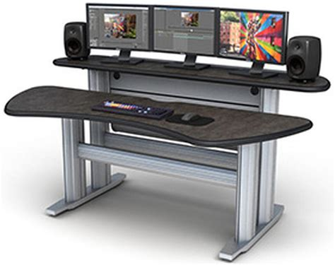 multi tiered computer desk st2 bl smarttrac 2 bay bi level console tbc consoles