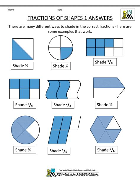 fractions of a set worksheets grade 4 worksheet mogenk