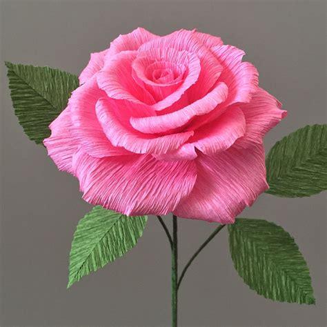 crepe paper tea rose single stem wedding flowers home