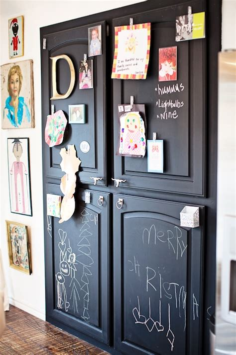 pantry  chalkboard doors transitional kitchen
