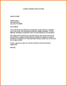 Sle Employee Termination Letter For Cause by 6 Letter Of Termination Of Employment Marital