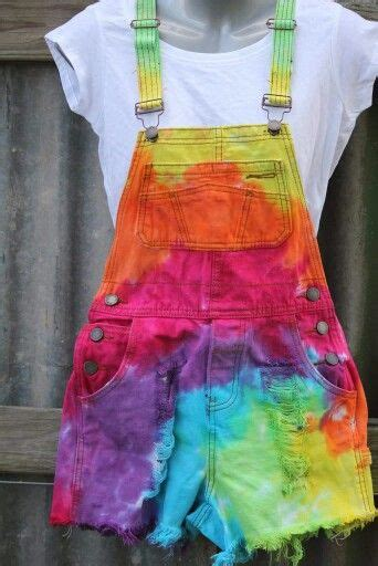 colorful shorts colorful overall shorts tie dye dip dye ombre