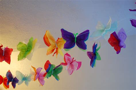 Butterflies Out Of Paper - butterfly garland ninijeanie