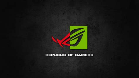 gamers logo wallpaper republic of gamers nvidia wallpaper by biosmanager on