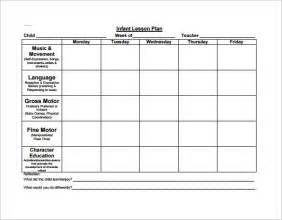 daily lesson plan template for preschool preschool lesson plan template 11 free sle exle