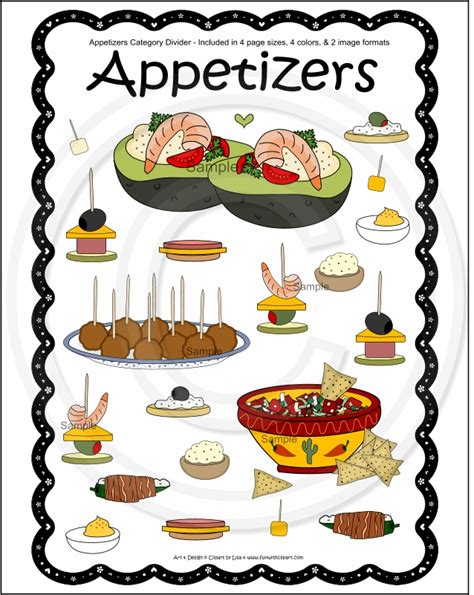 free printable appetizer recipes delicious appetizer clipart clipground