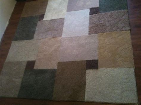 carpet cut into area rugs diy area rug for 35 you will need 17 pieces of
