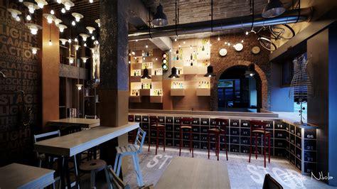 rustic interior design cafe hospitality restaurant interior design bar industrial