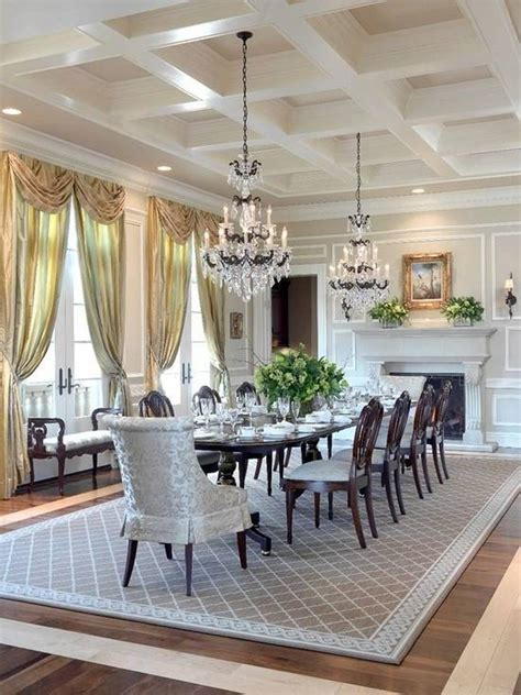 Elegant Dining Room | pretty dining room rugs interior design and decor traba