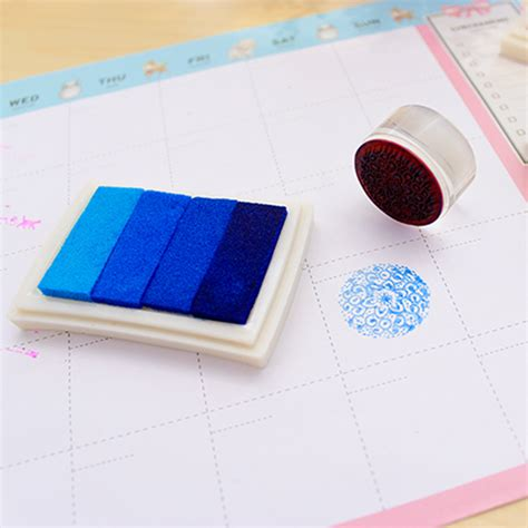 rubber st ink for fabric multi colours craft set ink pad inkpad for paper wood