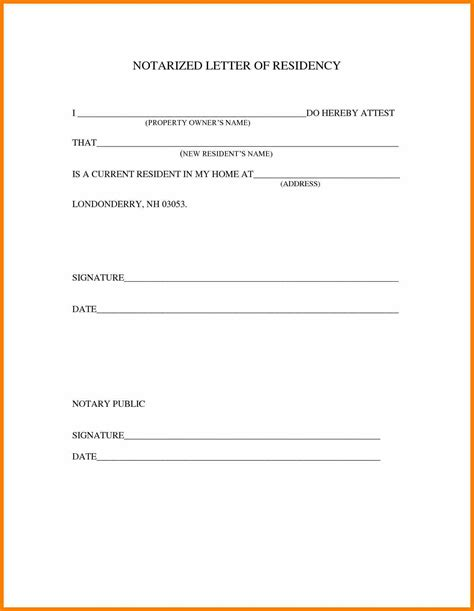6 notary form template resume pictures