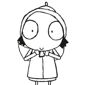 coloring pages sarah and duck colour in sarah make and colour cbeebies global