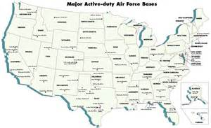 map of air bases in air facilities united states nuclear forces