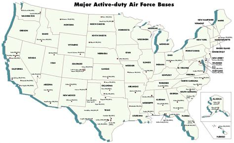bases in usa map air facilities united states nuclear forces