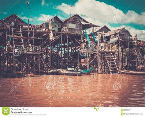 siem reap floating village boat price floating village kompong phluk cambodia stock photo