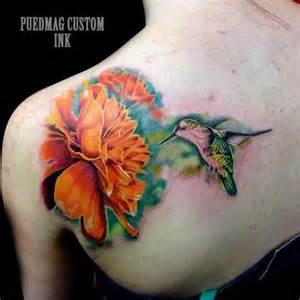 tatouage r 233 aliste fleur retour colibri par puedmag custom