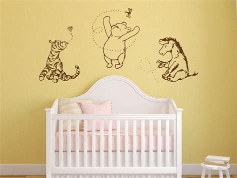 Eeyore Wall Stickers Classic Pooh Tigger Eeyore Vinyl Wall Decal Art By
