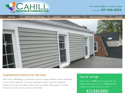 roofing waltham cahill roofing construction roofing waltham ma