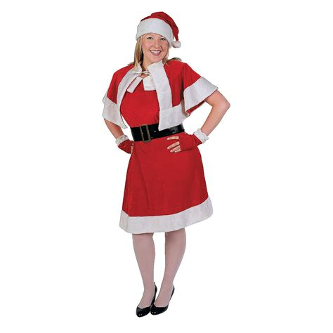 holiday miss santa claus costume adult women s plus size