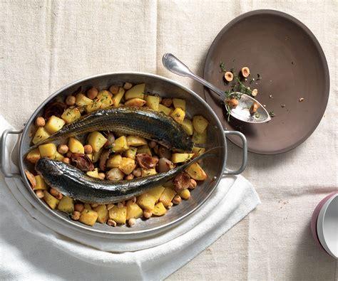 cefalo ricette cucina ricetta cefalo con patate e nocciole le ricette de la