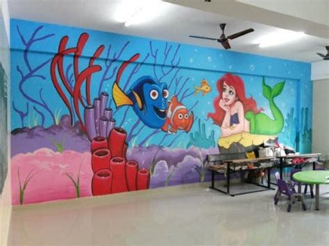 wallpaper for walls hyderabad play school painting wall painting cartoon painting 3d
