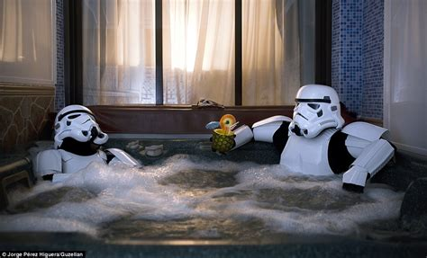 stormtrooper bathroom stormtroopers snapped doing their shopping and in the bath
