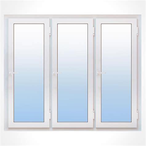 porte fen 234 tre pvc 3 vantaux vitrage phonique ou thermique