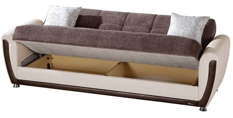sleeper sofa bed with storage mondi sofa bed sleeper with storage brown usa