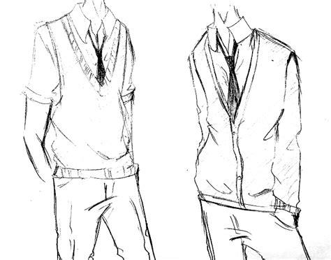 tutorial menggambar baju cara menggambar seragam sekolah manga cowok lengkap mayagami