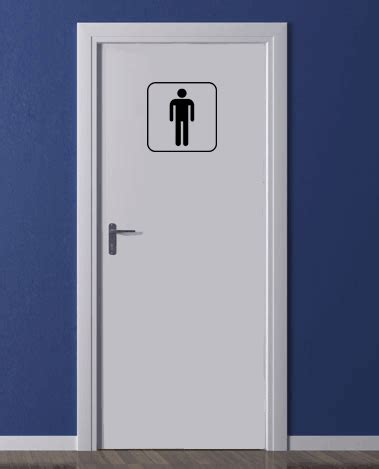 afmetingen wc deur deursticker toilet man