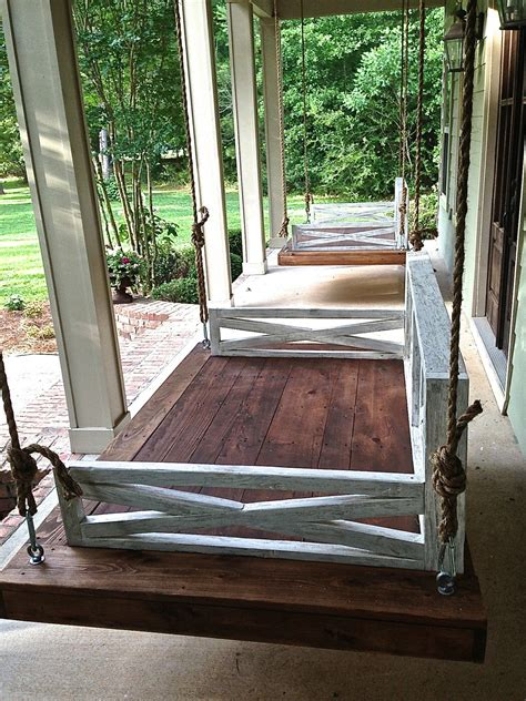 porch bed swing plans hanging daybed porch swing