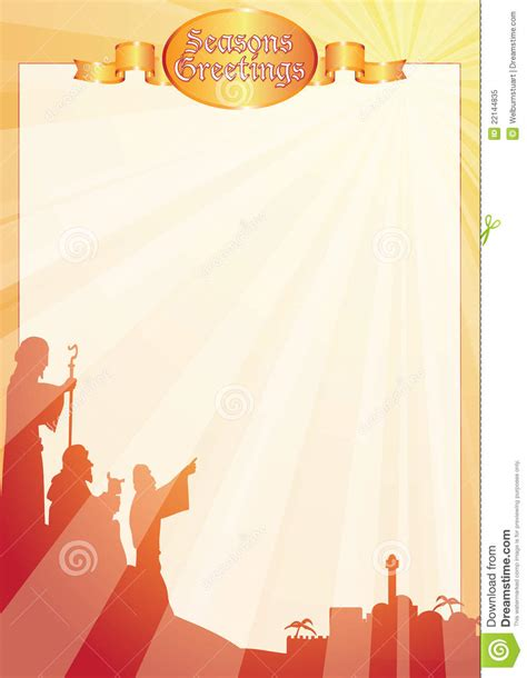 Rays Shepherds Greetings Letter Stock Vector Image 22144835 Free Religious Letter Template