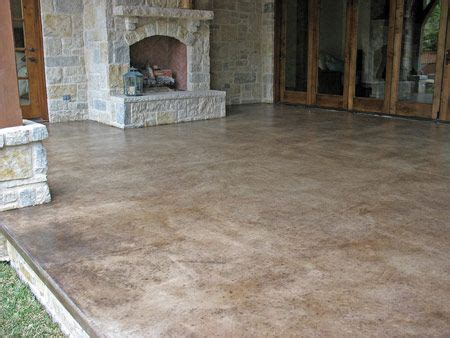 Concrete Patio Stain Colors - take a look at this patio concrete stain solcrete