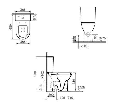 Bathroom Trap Installation Vitra S50 Comfort Height Close Coupled Toilet With Cistern