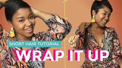 grwm   style short pixie cut wrap style youtube
