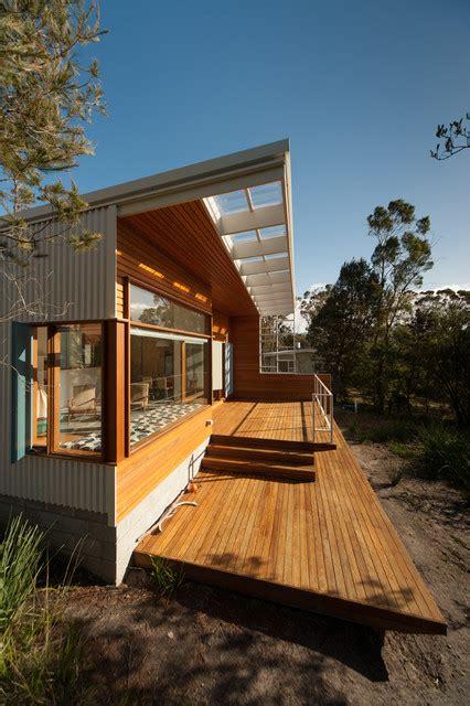 modern beach house houzz southern tasmanian beach house contemporary deck