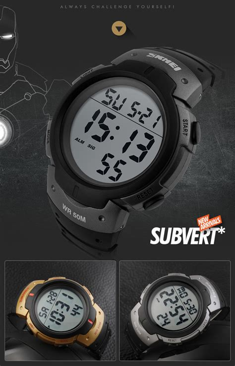 Skmei 1068 Sports Digital Led Merah skmei 1068 army led water resistant army