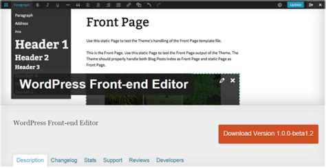 wordpress theme editor gui a look at the upcoming wordpress front end editor