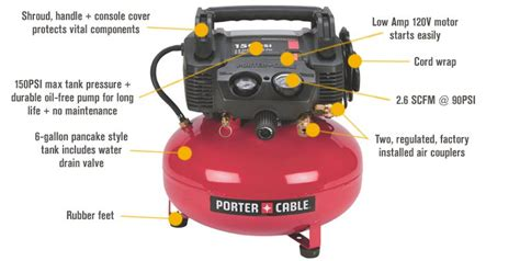 porter cable portable electric pancake air compressor kit