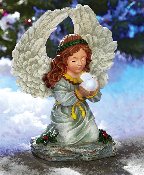 solar power christmas angel outdoor garden statue lawn