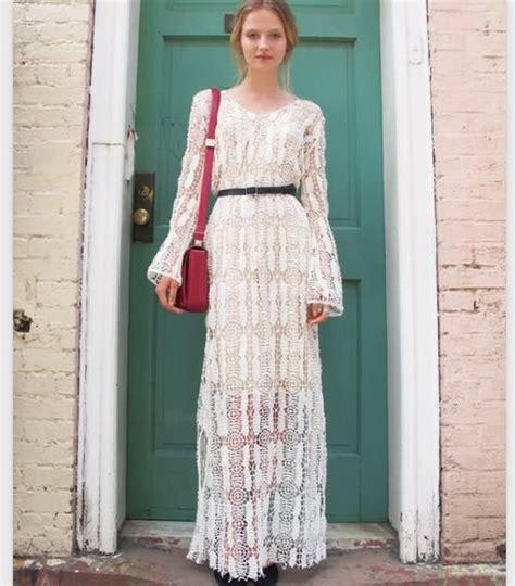 white lace boho maxi dress dress boho bohemian maxi dress white white dress